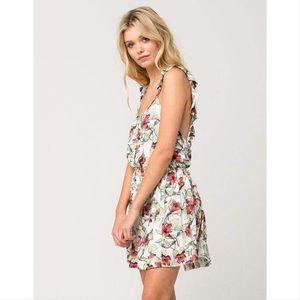 NWT Free People Dear You floral ruffle mini dress